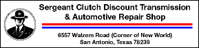 Sgt. Clutch Discount Transmission Repair & Auto Repair Shop San Antonio